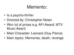 video essay memento memento