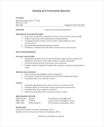 Functional resume sample 9 examples in pdf for Example of a functional  resume .