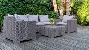 piece rattan outdoor furniture set