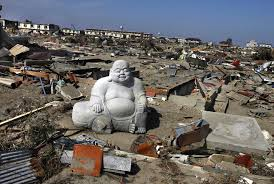 robot monkeys buddha among rubble