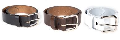 mens leather belt oil tan removable buckle heavy