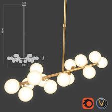 bubble stik cold chandelier royalty free 3d model preview no 1