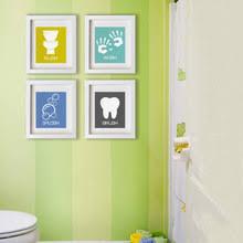 kids bathroom wall decor. Cartoon Bathroom Symbols Canvas Painting Nursery Wall Art Posters Prints Minimalist Pictures For Kids Room Home Decor
