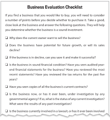 guide to small business ideas franchise evaluation worksheet