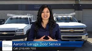 aarons garage doorsAarons Garage Door Service San Antonio Five Star Review  YouTube
