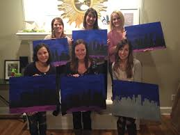 sarah s painting party sarah hosted an amazing group of women from her small group through church last week we created these beautiful kansas city