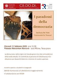 11 febbraio 2020 > I paradossi della democrazia - Iveser