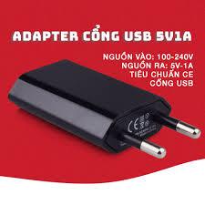 Mã INCUBACK1519 hoàn 20K xu đơn 0Đ] Adapter sạc Điện thoại/Đèn USB... Nguồn  5V1A chân cắm tròn