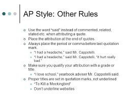 Ap Style Quotes
