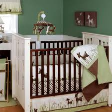 image of baby crib bedding deer head decoration