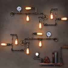 industrial looking lighting. Gigantic Industrial Looking Light Fixtures Accessories Pipe And Clock Retro Lighting 30 A