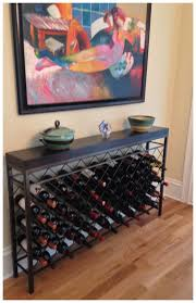Wine Rack Console Table Wine Rack Console Table E Nongzico