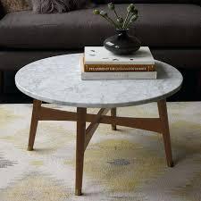 white marble coffee table alana round top set gold legs