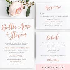 Wedding Invitation Templates With Photo Bettie Printable Wedding Invitation Template Set