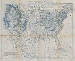 United States Isogonic Chart For Epoch 1890 Magnetic Declination Uscgs 1889 Map