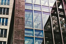 office block design. Architecture Window Glass Building City Skyscraper Urban Downtown Hall Color Facade Blue Modern Office Tower Block Design