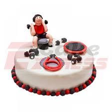 Gurugram Special Gym Theme Designer Cake Delivery In Gurugram
