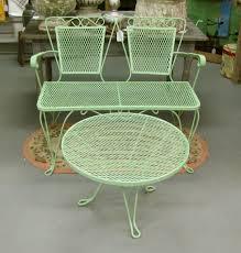 white iron outdoor furniture. fine retro aluminum patio furniture outdoor table and chairs round design decorating white iron e