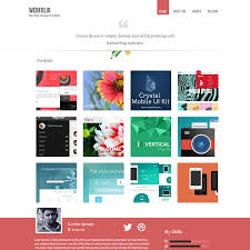 Resume Website Template Webfolio is minimal PSD portfolio template to showcase your 61