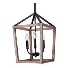 farmhouse pendant lighting. Whoselamp - 3-Light Wood Cage Pendant Lighting Farmhouse K