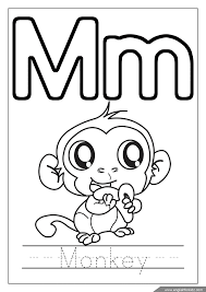 Free printable coloring pages for uppercase and lowercase letters for kids. Letter M Worksheets Flash Cards Coloring Pages