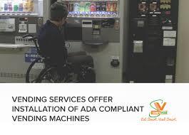 Ada Vending Machine Requirements Gorgeous Smart Vending Food Services