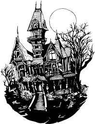 haunted house drawing. pin drawn house haunted castle #1 drawing
