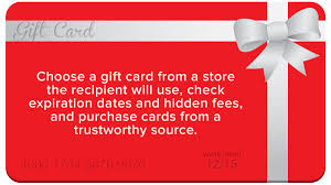 what should i consider when purchasing a gift card for someone