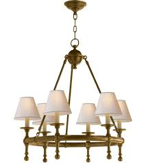 visual comfort sl5814hab np e f chapman classic 6 light 26 inch hand rubbed antique brass chandelier ceiling light