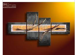 4 piece wall art modern abstract fantasia oil painting on canvas decorative on wall art 4 piece set with 2018 wall art modern abstract fantasia oil painting on canvas