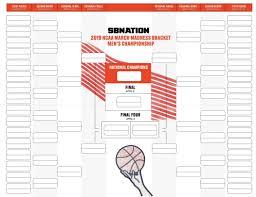 Selection Sunday 2019 Get Your Blank Printable Bracket
