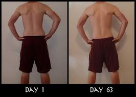 insanity before and after picture from the back