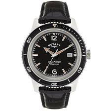 rotary men s quartz watch black dial analogue display and rotary men s quartz watch black dial analogue display and black leather strap gs02694 04 amazon co uk watches