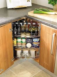 es and home bar in a kitchen corner cabinet