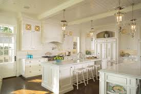 Southern Kitchen Design Duvall Creek Classic White Kitchen Featuring Double Island