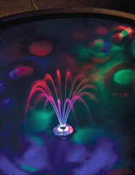 Floating Pool Fountain With Lights The Floating Lighted Pool Fountain Floating Lights