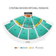 Mitchell Pavilion Seating Chart 68 Veracious Cynthia Woods Mitchell Pavilion Detailed