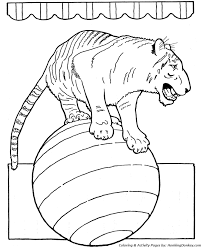 Small Picture Circus Animal Coloring Pages Printable performing circus trained