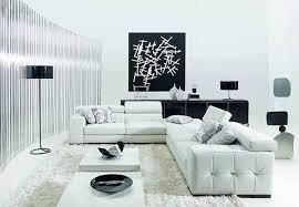 minimalist living room furniture. Living Room In Minimalist Style: White Furniture, Walls, Black Artwork Furniture