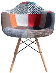 replica daw eames chair vintage patchwork chair timber