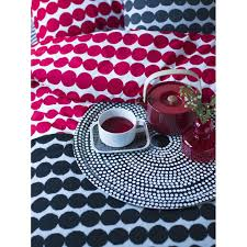 räsymatto double duvet cover red white