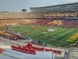 Tcf Bank Stadium Seating Chart Views Tcf Bank Stadium Section 205 Row 11 Seat 2 Minnesota