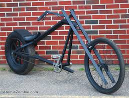 atomiczombie the vigilante stealth bomber style chopper
