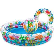 Купить надувной бассейн Бассейн <b>Intex</b> Подводный мир 132х28 см
