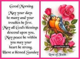 Good Morning Sunday Quote Best of Good Morning And Have A Blessed Sunday Quote Pictures Photos And
