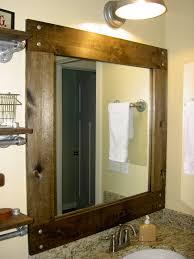 wood mirror frame ideas. Wooden Framed Rectangular Mirror For Bathroom Frame Ideas Wood