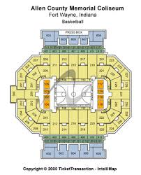 Studious Allen War Memorial Coliseum Seating 15 Lovely Allen