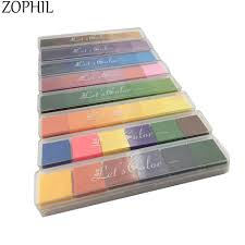 <b>ZOPHIL</b> 6in1 Fingerprint Ink Pad Gradient Colors Stamps ...