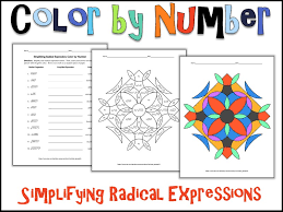 Solving Radical Equations Coloring Worksheet With Answers - Color ...