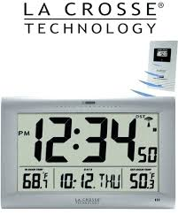 outdoor atomic wall clock giant digital thermometer large and designs display la crosse technology 18 inch